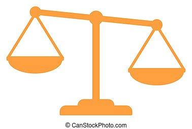 oro, justicia, escalas