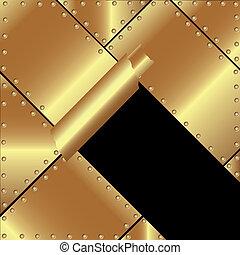 Oro metálico metalizado con un metal roto 2