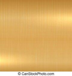 oro, metálico, pulido, texture., fondo.
