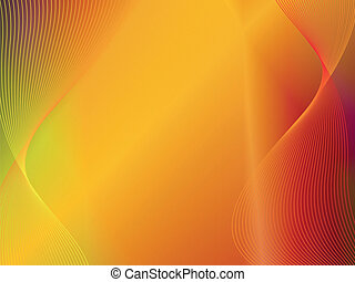Oro naranja amarillo fondo abstracto con onda