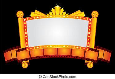oro, neón, cine