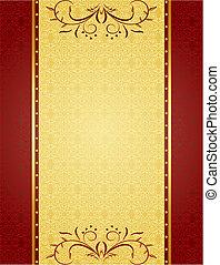 Oro para el diseño de tarjetas e invitación