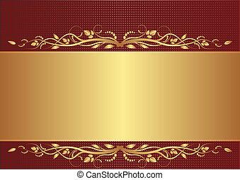 oro, plano de fondo, borgoña