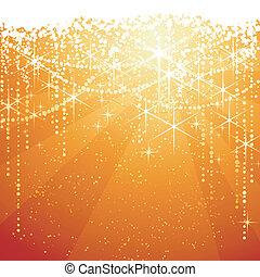 Oro rojo con estrellas brillantes para ocasiones festivas. Genial como la Navidad o los años pasados.