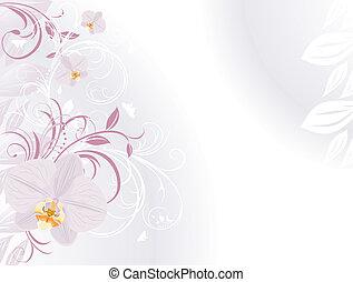Orquídeas con ramitas decorativas