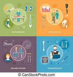 Ortopedia de Traumatología 2x2 imágenes planas