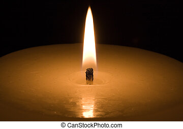 oscuridad, candlelight