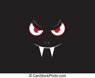 oscuridad, cara, vampiro