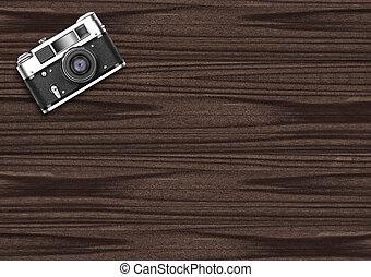 oscuridad, de madera, plano de fondo, viejo, cámara, vendimia