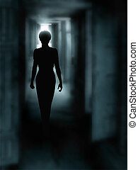 oscuridad, pasillo