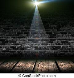 oscuridad, proyectores, plano de fondo