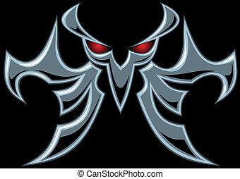 oscuridad, símbolo, diablo