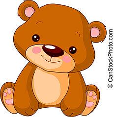 oso, diversión, zoo.