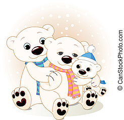 oso polar, familia