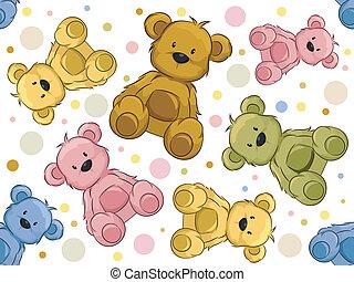 osos, seamless, teddy