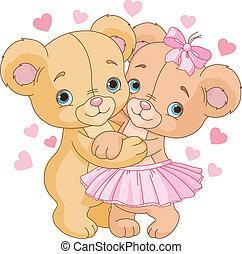 osos, teddy, amor