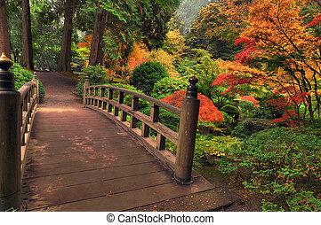 otoño, puente