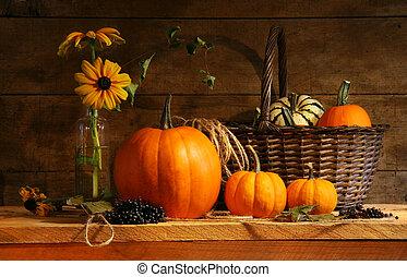 otoño, vida, todavía