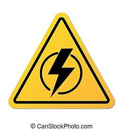 outage., potencia, símbolo, sin, electricidad