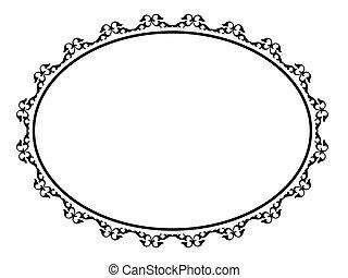 oval, ornamental, decorativo, marco