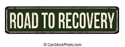 oxidado, vendimia, recuperación, metal, muestra del camino