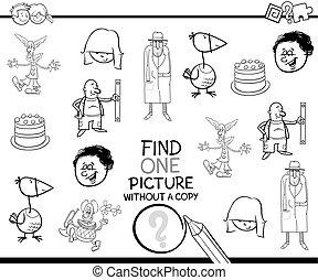 Página de coloración de actividad educativa