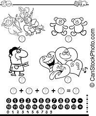 Página de coloración matemática