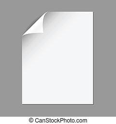 Página de papel con maíz plegable