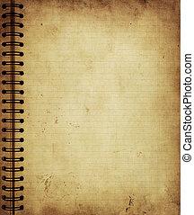 Página del viejo cuaderno grunge