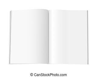 Páginas de revistas en blanco