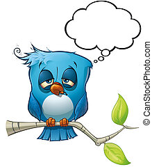 pájaro azul, resaca