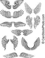 Pájaro heráldico o alas de ángel