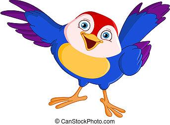 pájaro, señalar