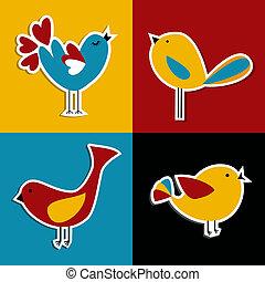 Pájaros de las redes sociales