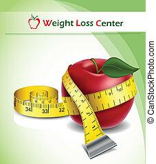 Pérdida de peso con manzana