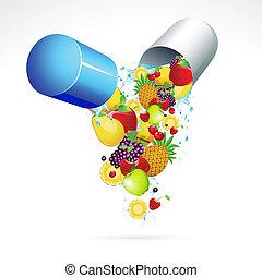 píldora de la vitamina