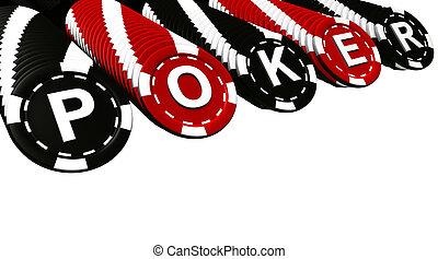 póker, filas, pedacitos