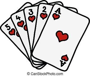 póker, rubor real