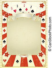póker, utilizado, plano de fondo