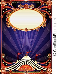 Púrpura fantástica formación de circo