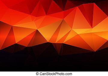 Púrpura naranja amarillo rojo marrón bajo fondo de polígrafo