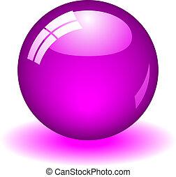 púrpura, pelota