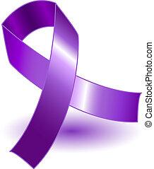 púrpura, sombra, conocimiento, cinta