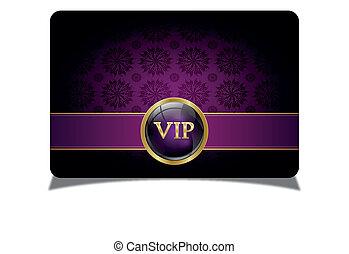 púrpura, vip, tarjeta