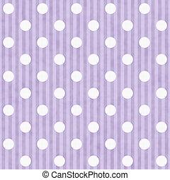 Púrpura y blanca de lunares