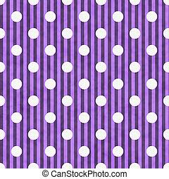 Púrpura y blanca de lunares y rayas de fondo