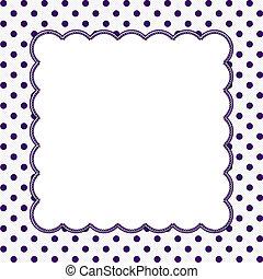 Púrpura y blanco lunar de fondo