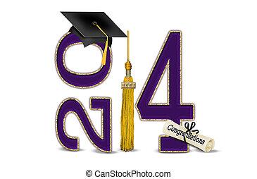 Púrpura y oro para la graduación de 2014