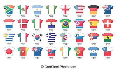 países, banderas, iconos