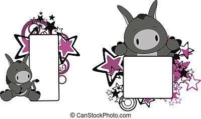 Pañuelo de dibujos animados de burro